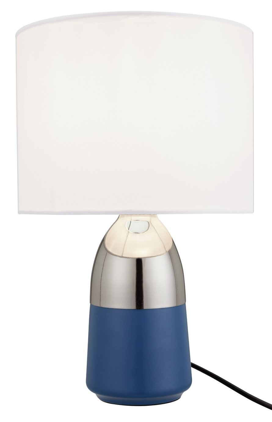 Argos Home Duno Touch Table Lamp - Blue & Chrome