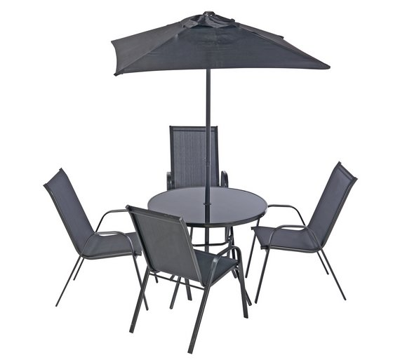 Sicily Garden Furniture Buy home sicily 4 seater metal patio set garden table and chair click to zoom workwithnaturefo