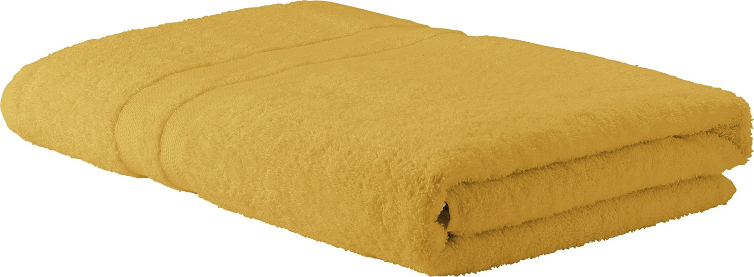 Argos Home Egyptian Cotton Bath Sheet - Mustard