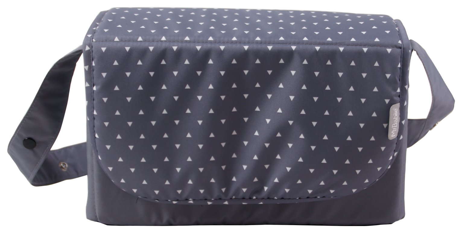 Image of My Babiie Katie Piper Grey Triangles Changing Bag