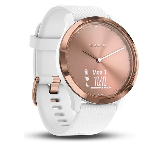 Buy Garmin Vivomove HR Smart Watch - Rose Gold and White  077d37c243c