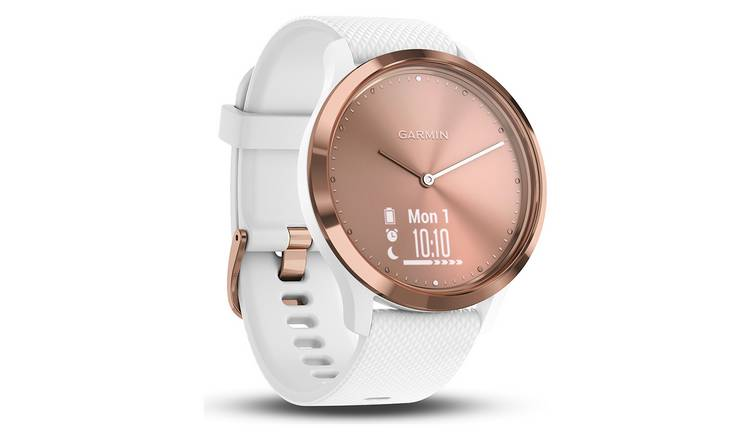 Buy Garmin Vivomove HR Smart Watch - Rose Gold and White | Fitness and  activity trackers | Argos