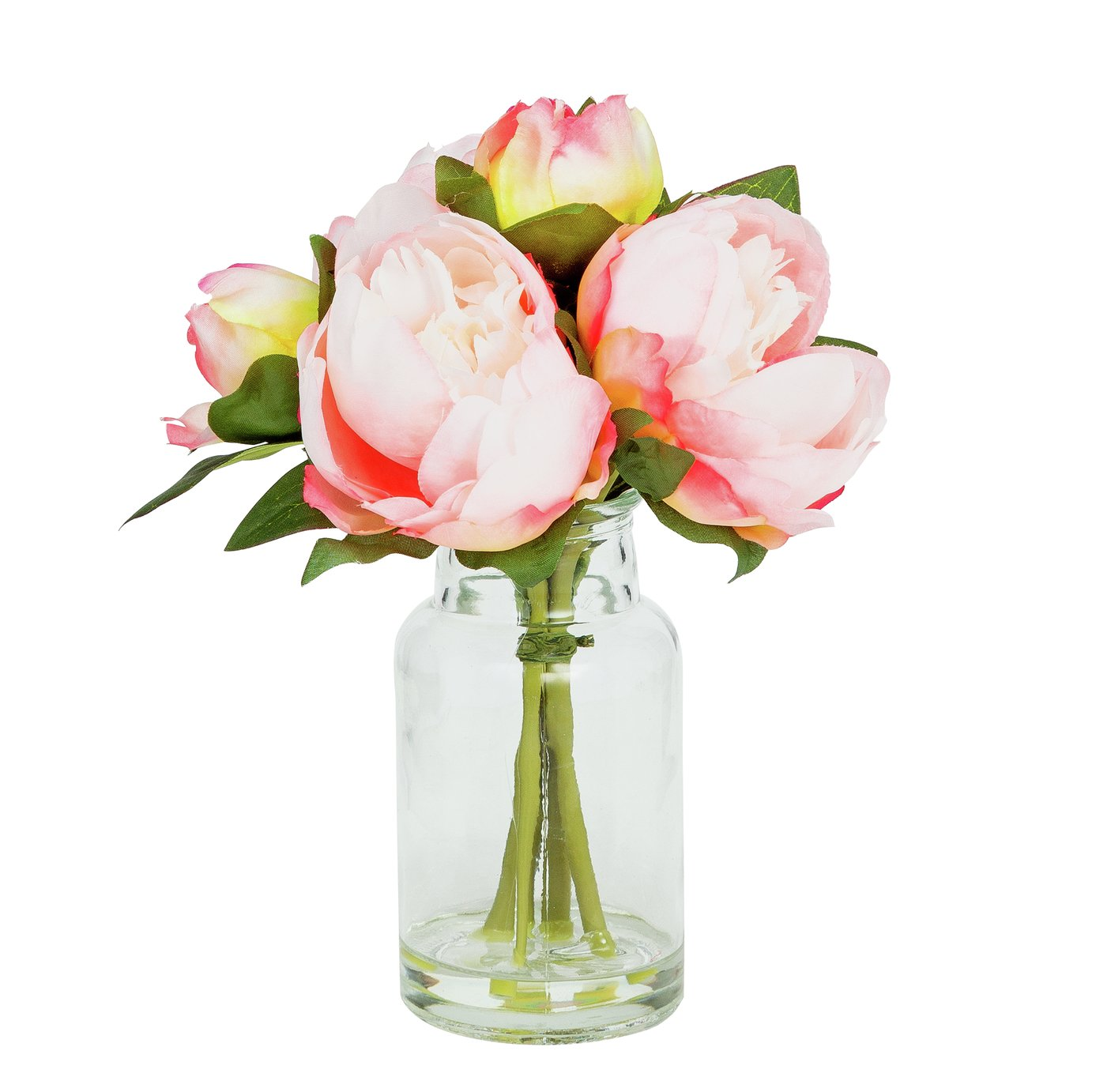 Image of Pink Peony Artificial Flower Arrangement
