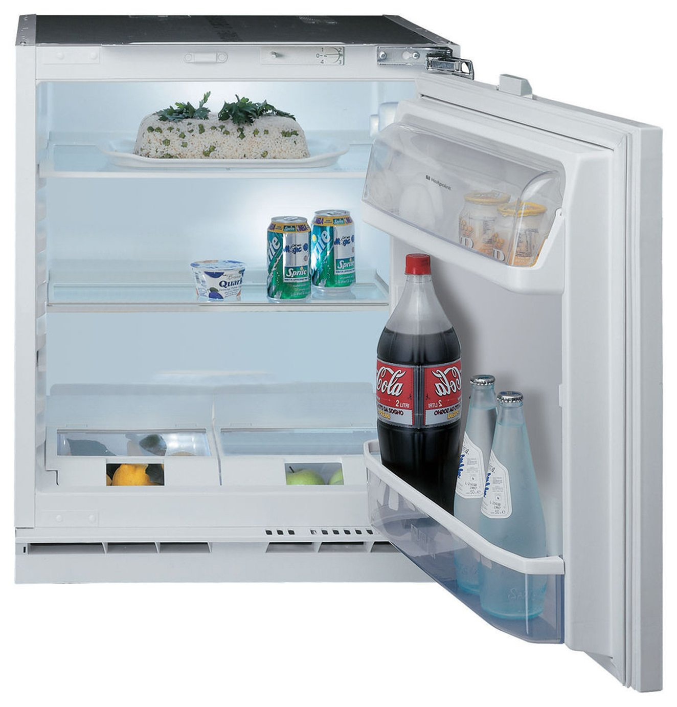 Hotpoint Aquarius HL A1. Built-in Fridge - White Best Price and Cheapest