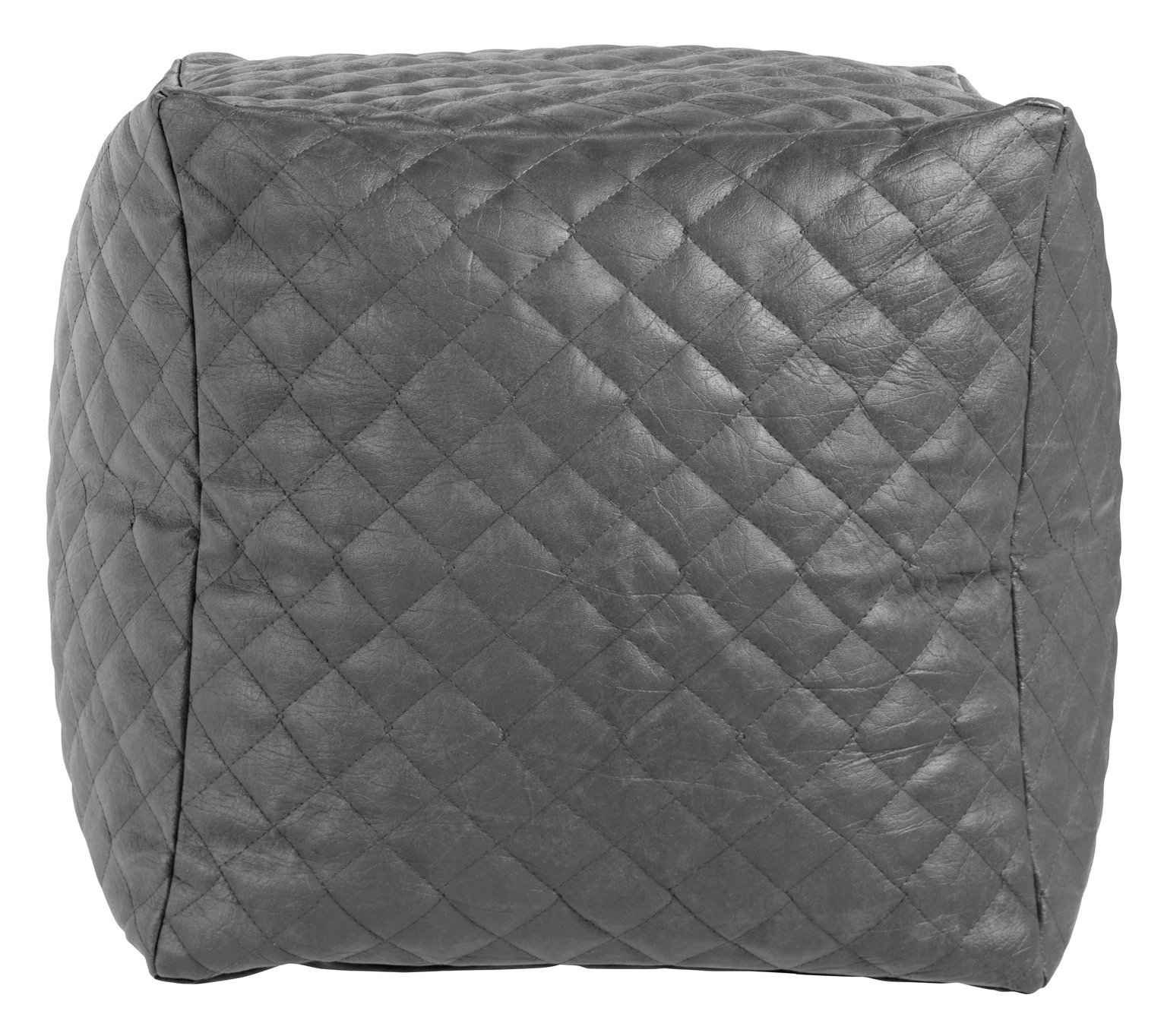 Argos Home Quilted Cube Beanbag - Grey