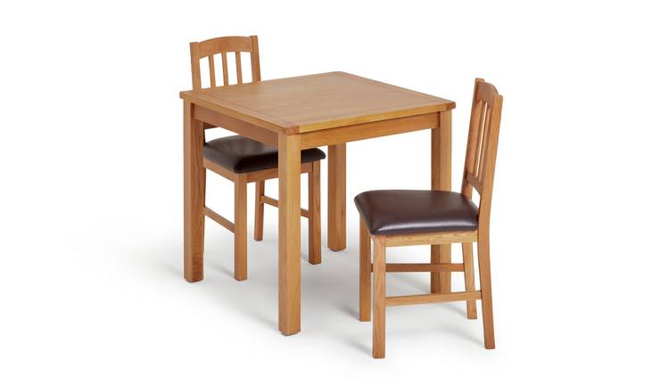 Habitat Ashwell Oak Veneer Dining Table & 2 Chairs