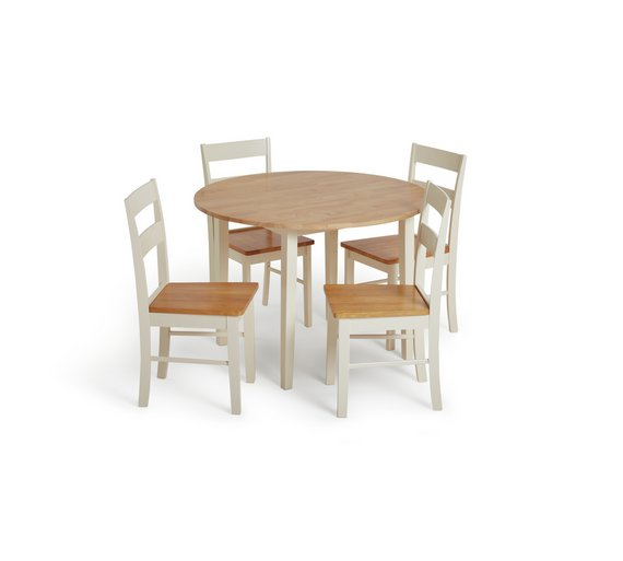 Buy Argos Home Chicago Round Solid Wood Dining Table 4 Chairs
