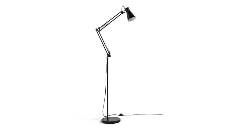 Argos Home Swing Arm Floor Lamp - Matt Black