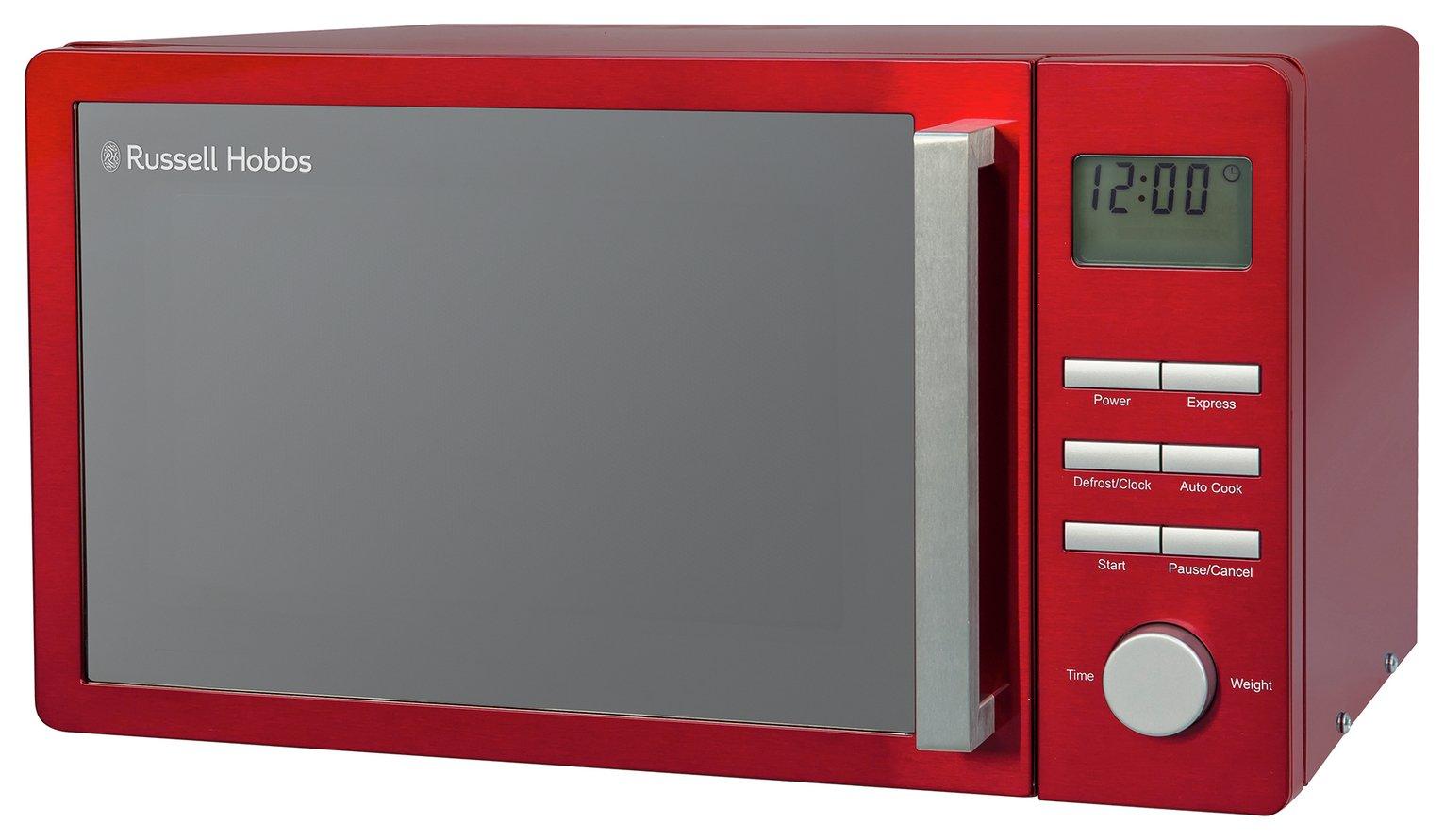 Russell Hobbs Luna 800W Standard Microwave RHMDL801R - Red