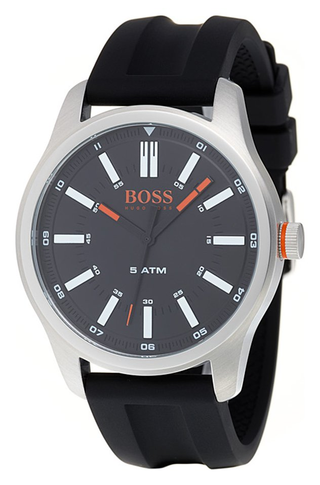 Hugo Boss Orange Dublin Men's Black Silicone Strap Watch