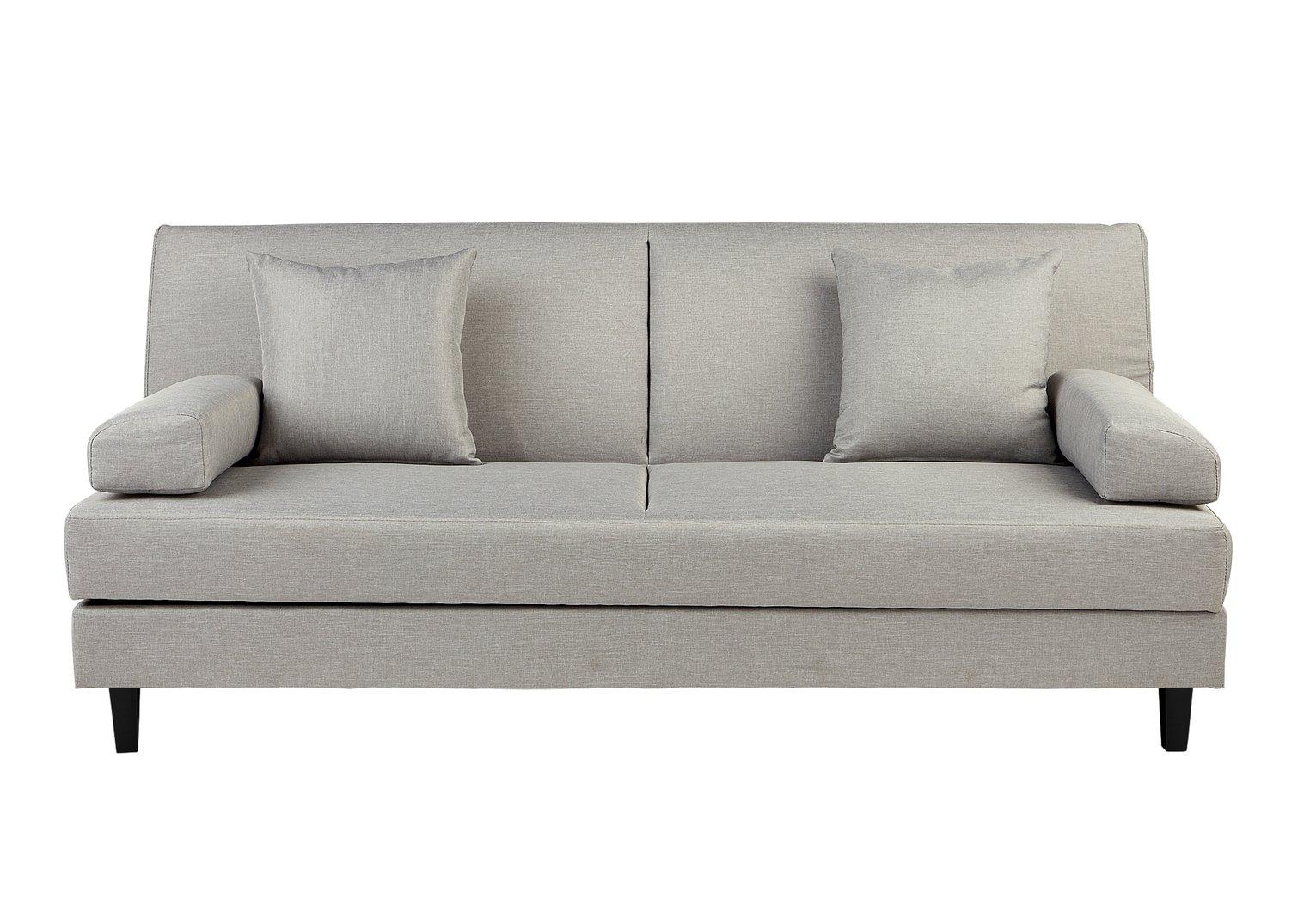 Buy Argos Home Chase Fabric Clic Clac Sofa Bed Light Grey Sofa