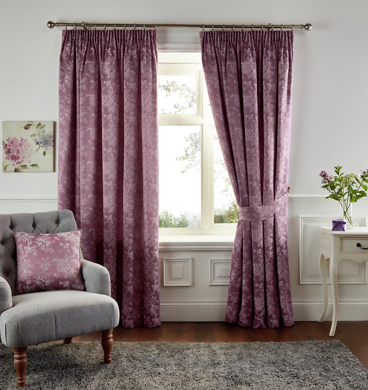 Fusion Ilsa Lined Curtains - 229x183cm - Heather