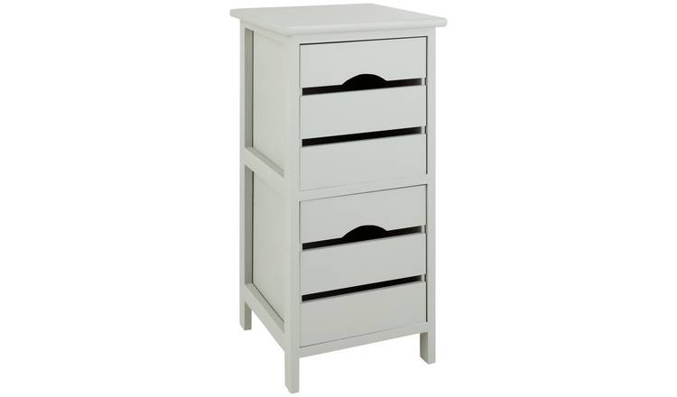 Buy Argos Home 2 Drawer Wooden Storage Unit - Grey ...