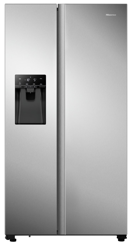 Hisense RS694N4TDF American Fridge Freezer - Stainless Steel
