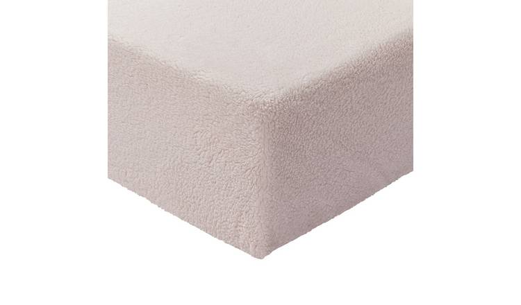 Argos Home Fleece 28cm Fitted Sheet - Double