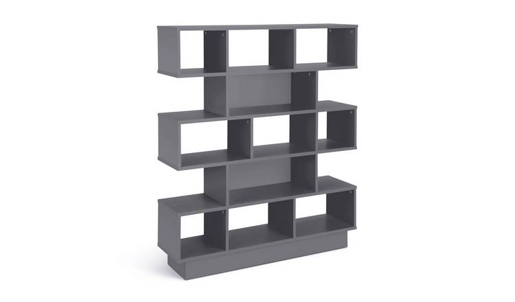 Argos Home Cubes 5 Tier Wide Bookcase - Grey