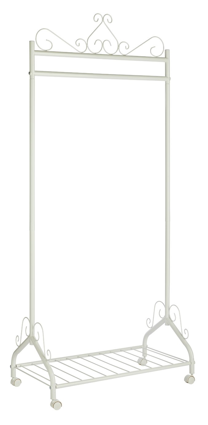 Argos Home Heavy Duty Decorative Clothes Rail - White