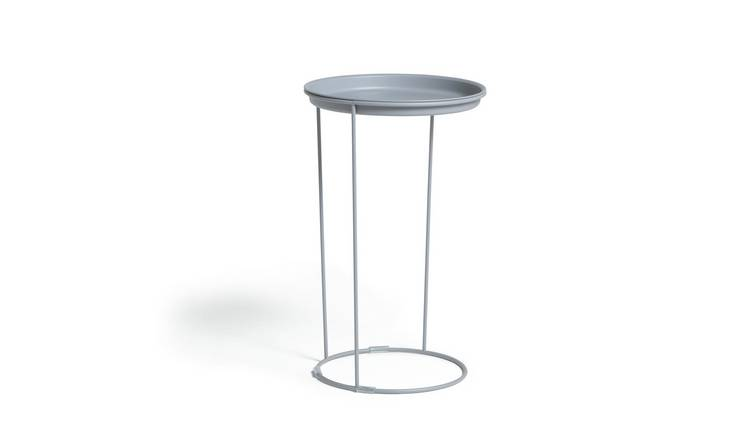 Habitat Finley C Shaped Side Table - Grey