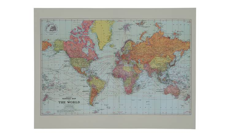 The Art Group Stanford's World Map Canvas Wall Art