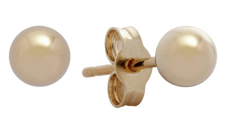 Revere 9ct Gold Ball Stud Earrings