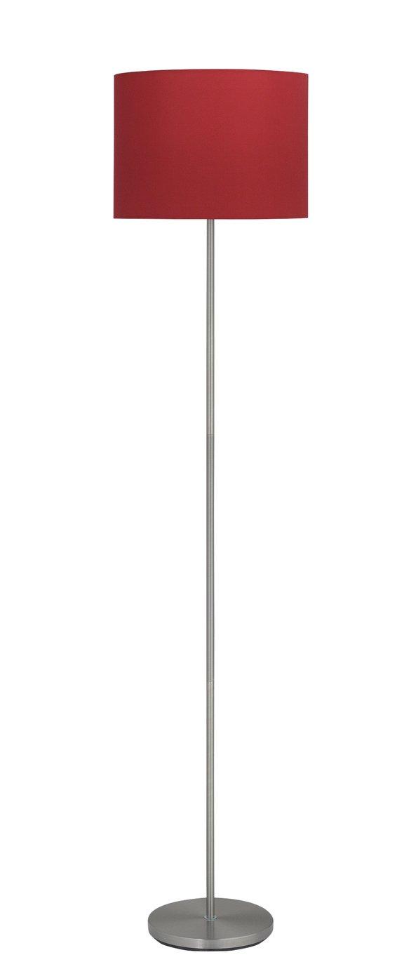 Argos Home Satin Stick FLoor Lamp - Red