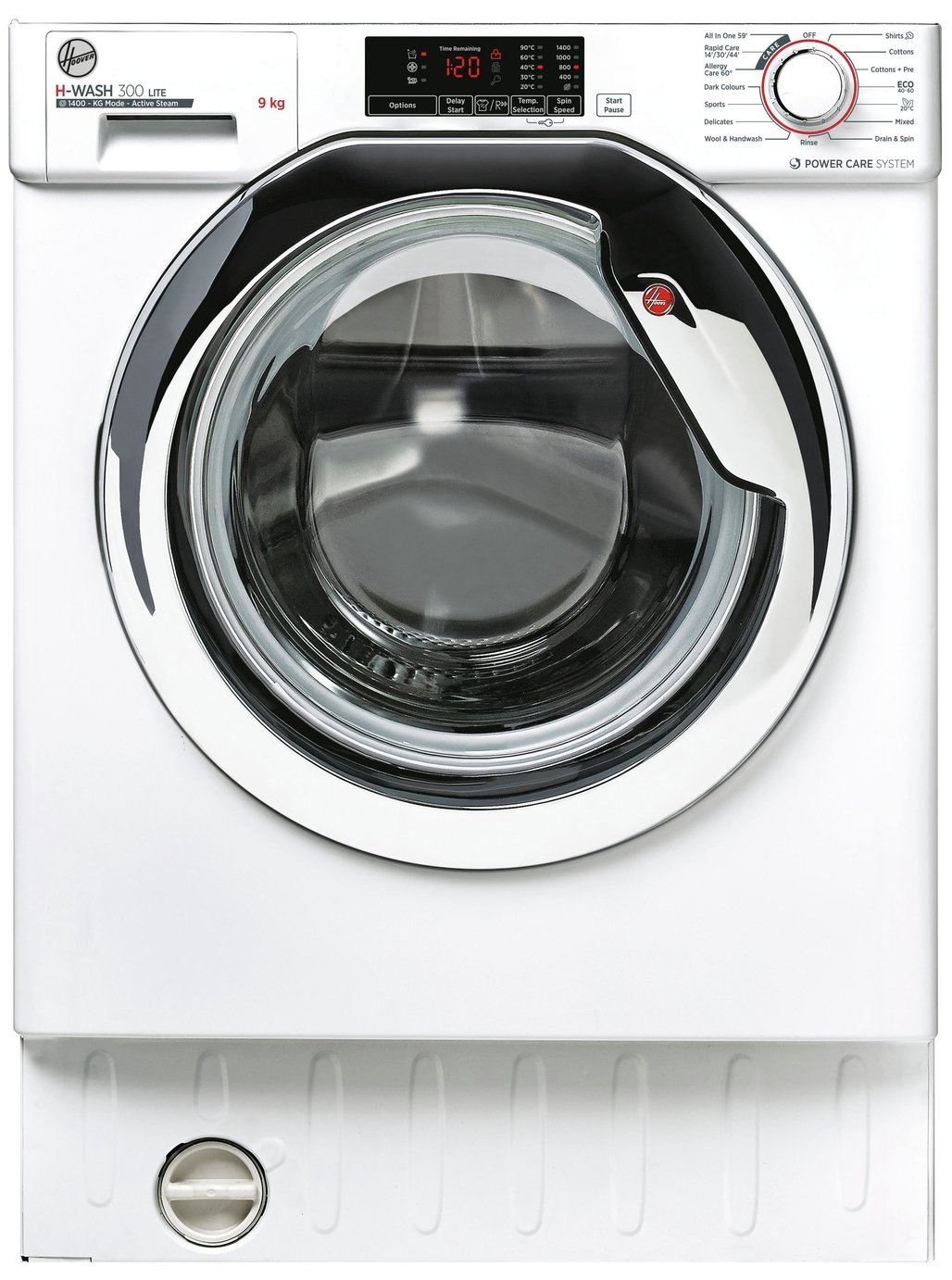 Hoover HBWS 49D1ACE 9KG Integrated Washing Machine - White