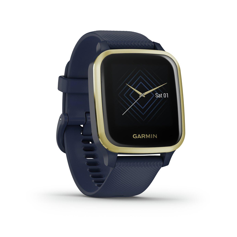 Garmin Venu Sq Music Edition Smart Watch Navy/ Gold Bezel