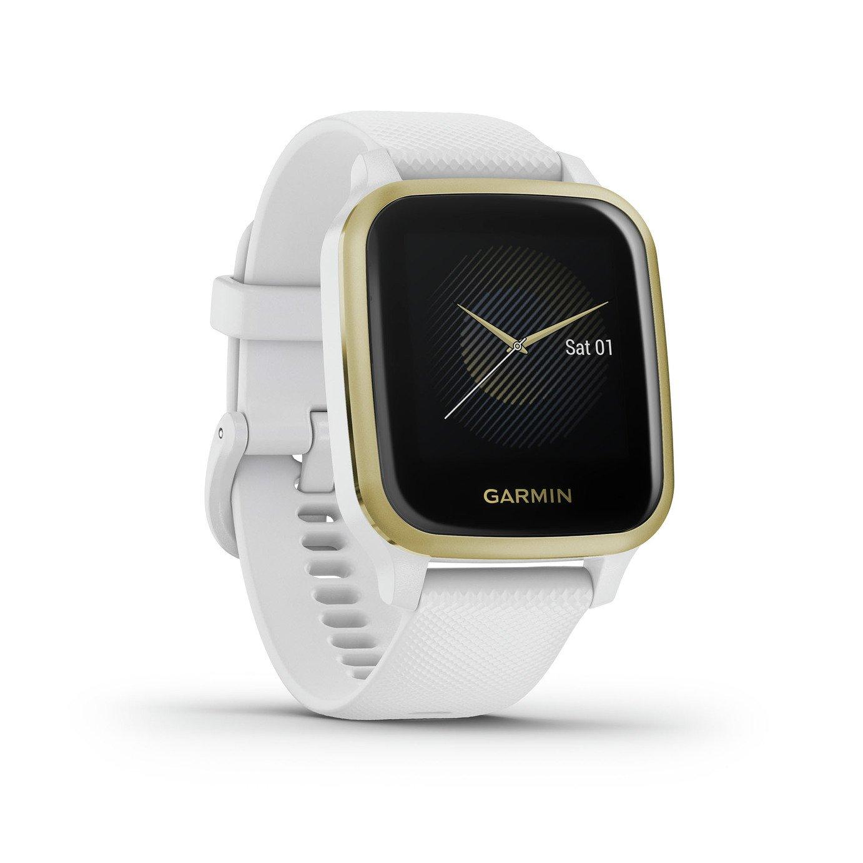 Garmin Venu Sq Smart Watch - White/Light Gold Bezel