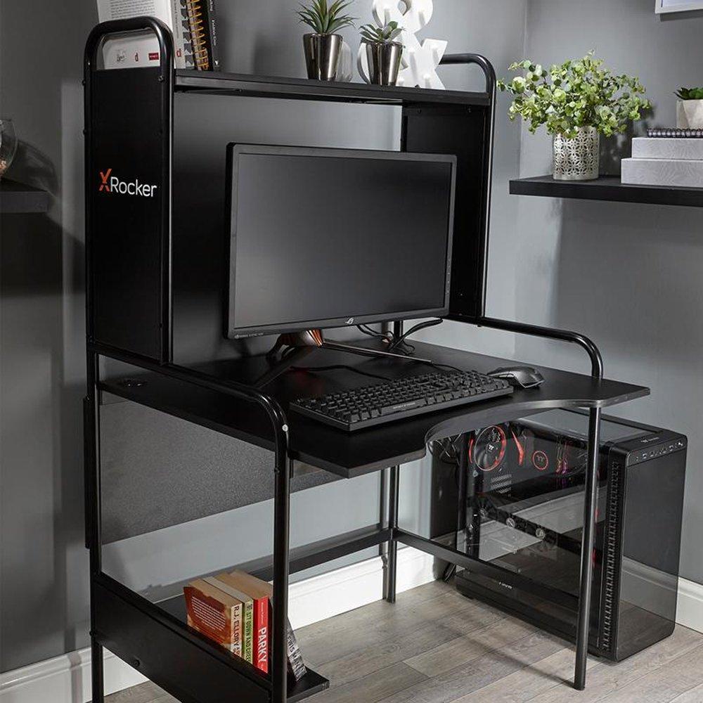 X Rocker Icarus Ergonomic Gaming Desk - Black