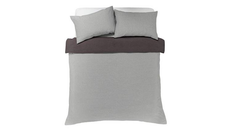 Argos Home Jersey Marl Bedding Set - Double