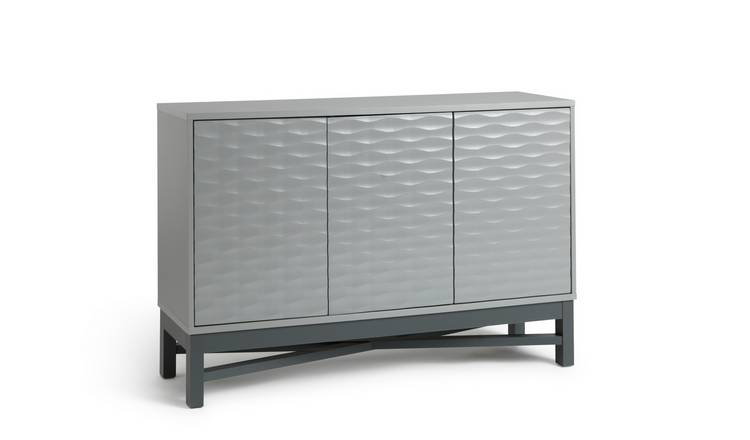 Habitat Zander Textured Large Sideboard - Grey