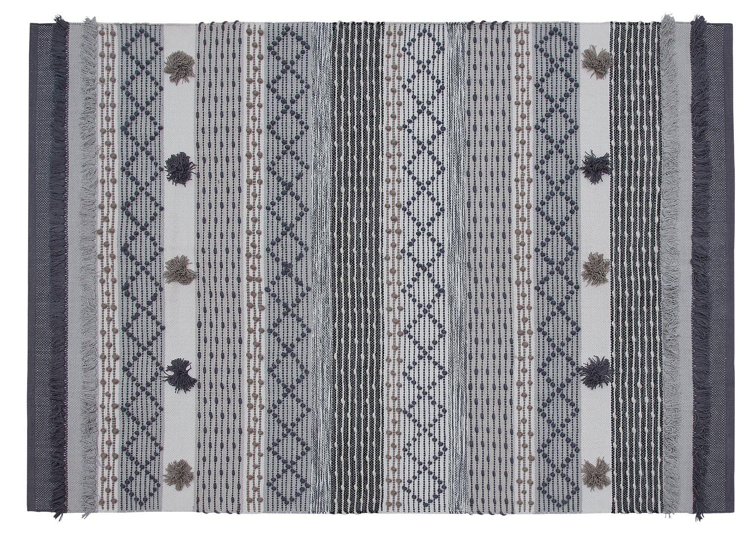 Habitat Traditional Cotton Faltweave Rug - 120x160cm - Grey