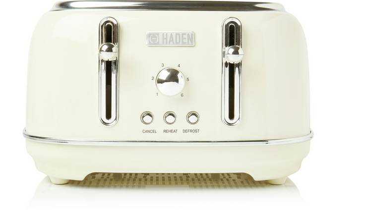 Haden 197252 Highclere 4 Slice Toaster - Cream
