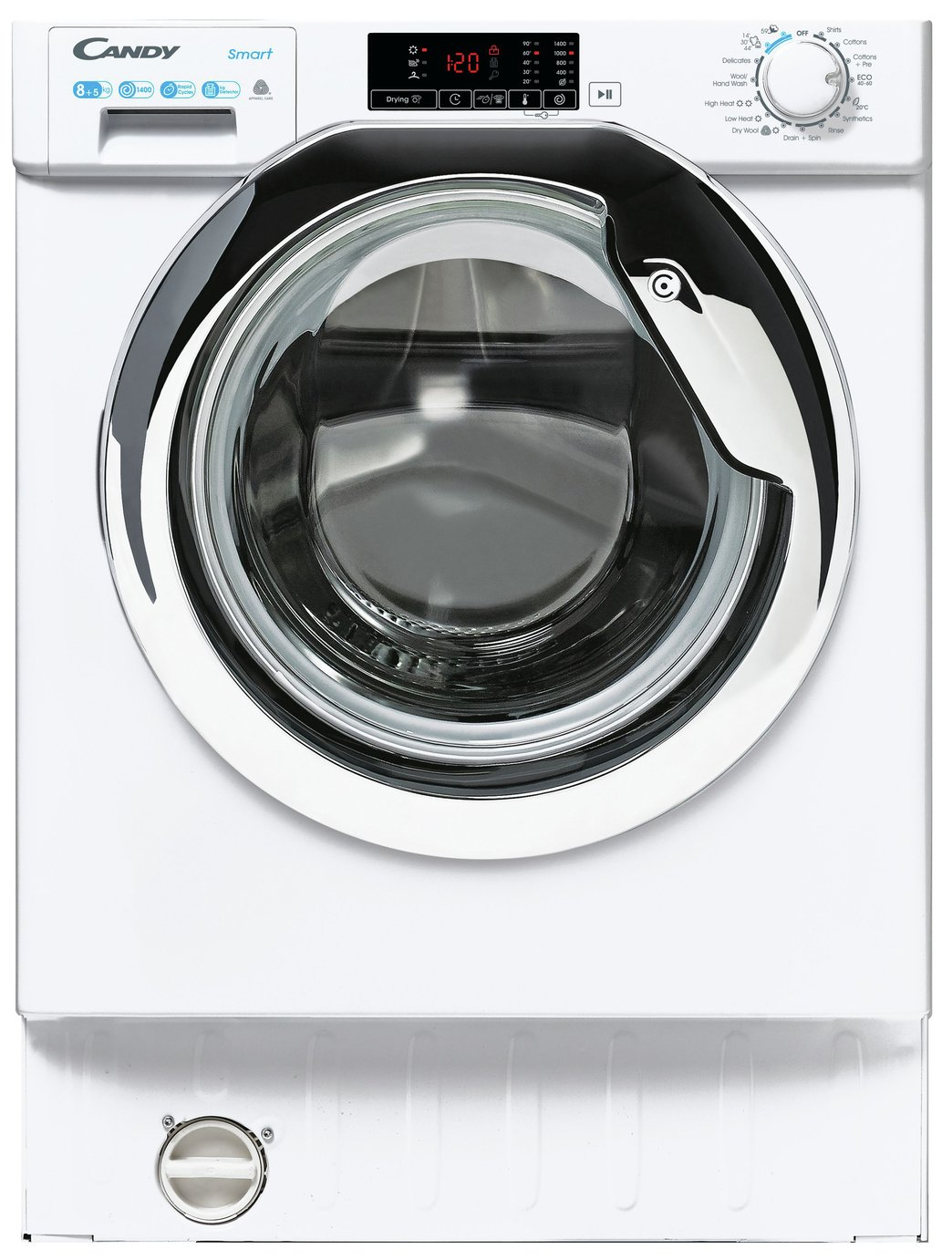 Candy CBD 485D1CE 8KG / 5KG Integrated Washer Dryer - White