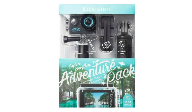 Kitvision 1080P Adventure Pack Action Camera with Wi-Fi