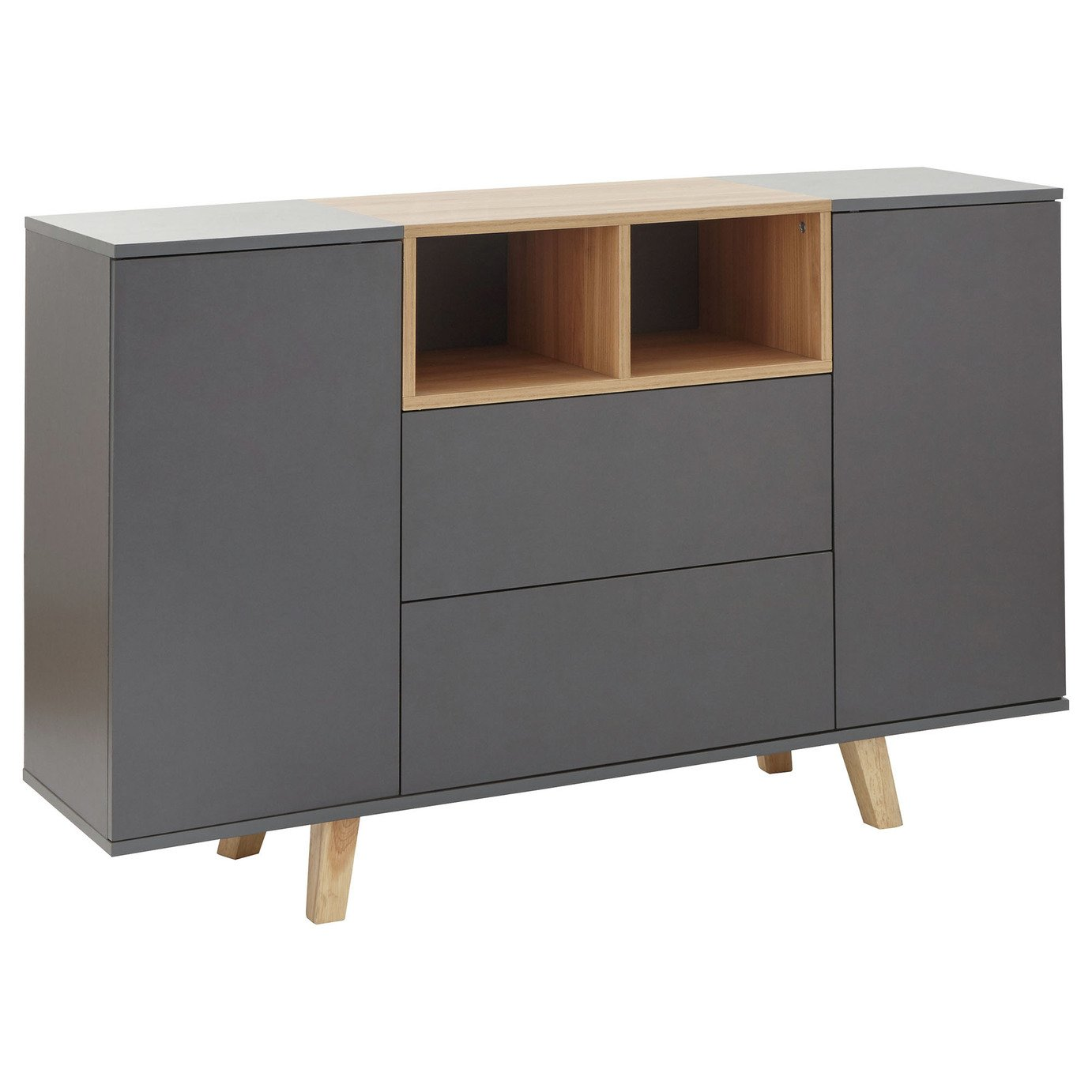 Modena 2 Door 2 Drawer Sideboard - Grey