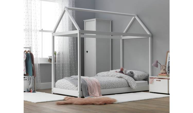 Argos Home House Single Bed Frame - White