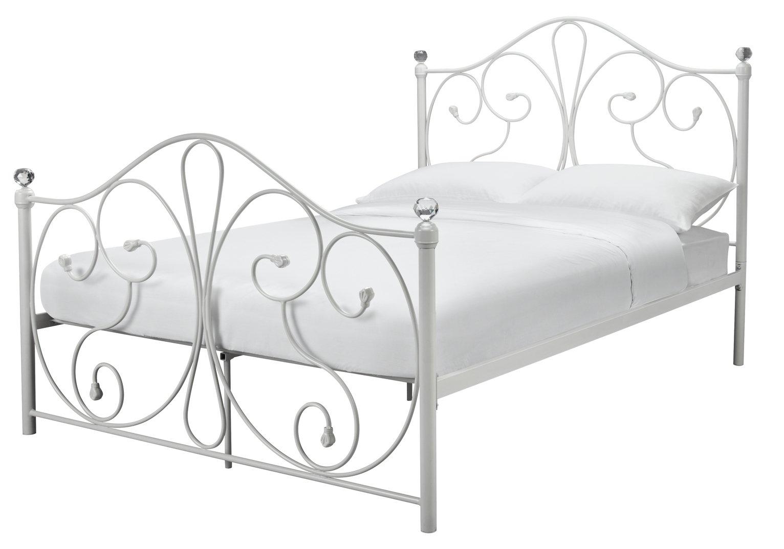Argos Home Marietta Double Bed Frame - White