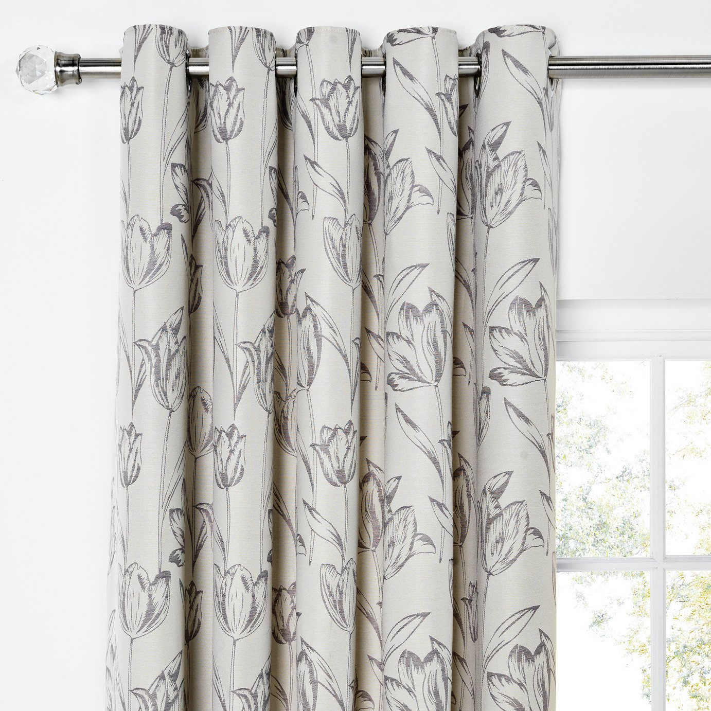 Heart of House Tula Lined Curtains - 168x229cm - Charcoal