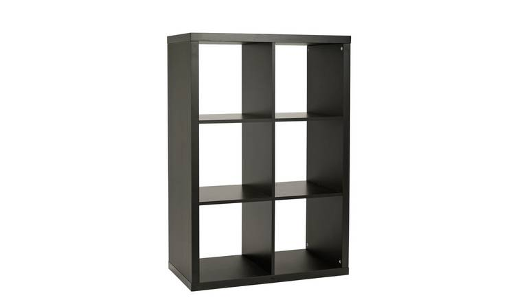 Habitat Squares Plus 6 Cube Storage Unit - Black