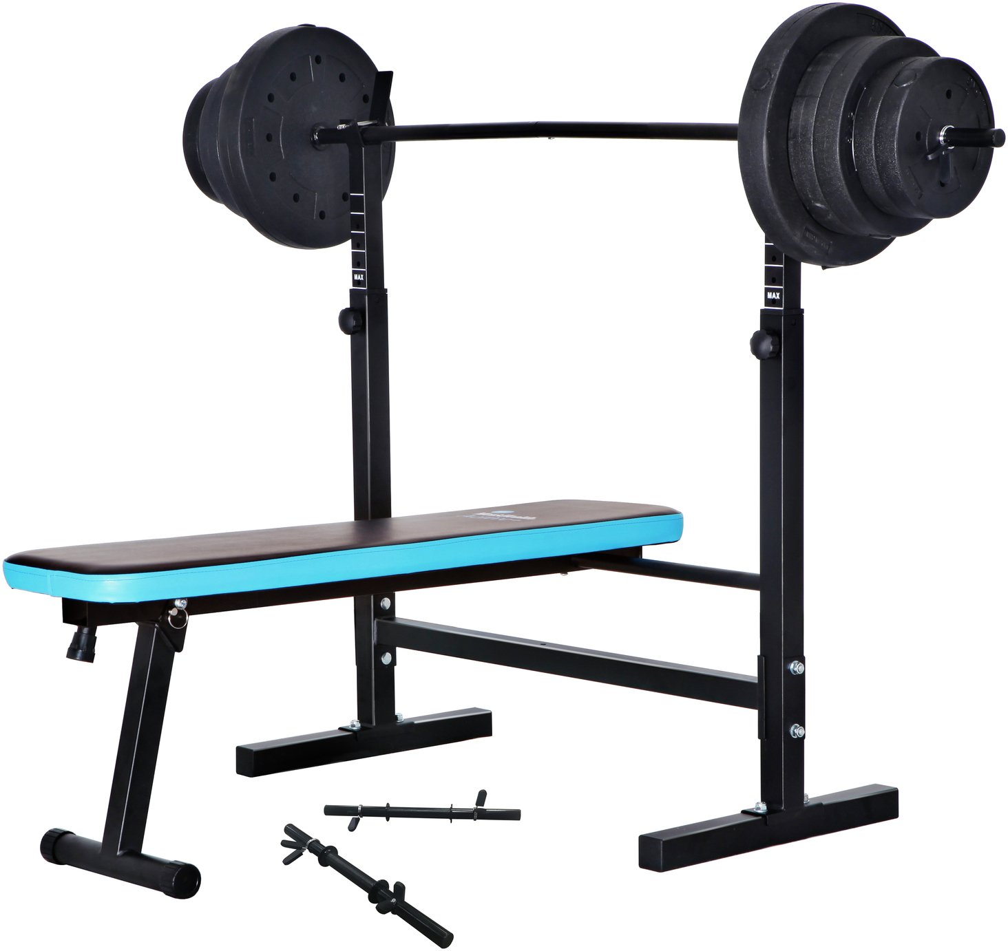 'Men's Health Folding Bench With 50kg Weights