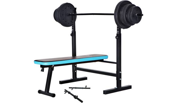 Men's Health Folding Bench with 50kg Weights