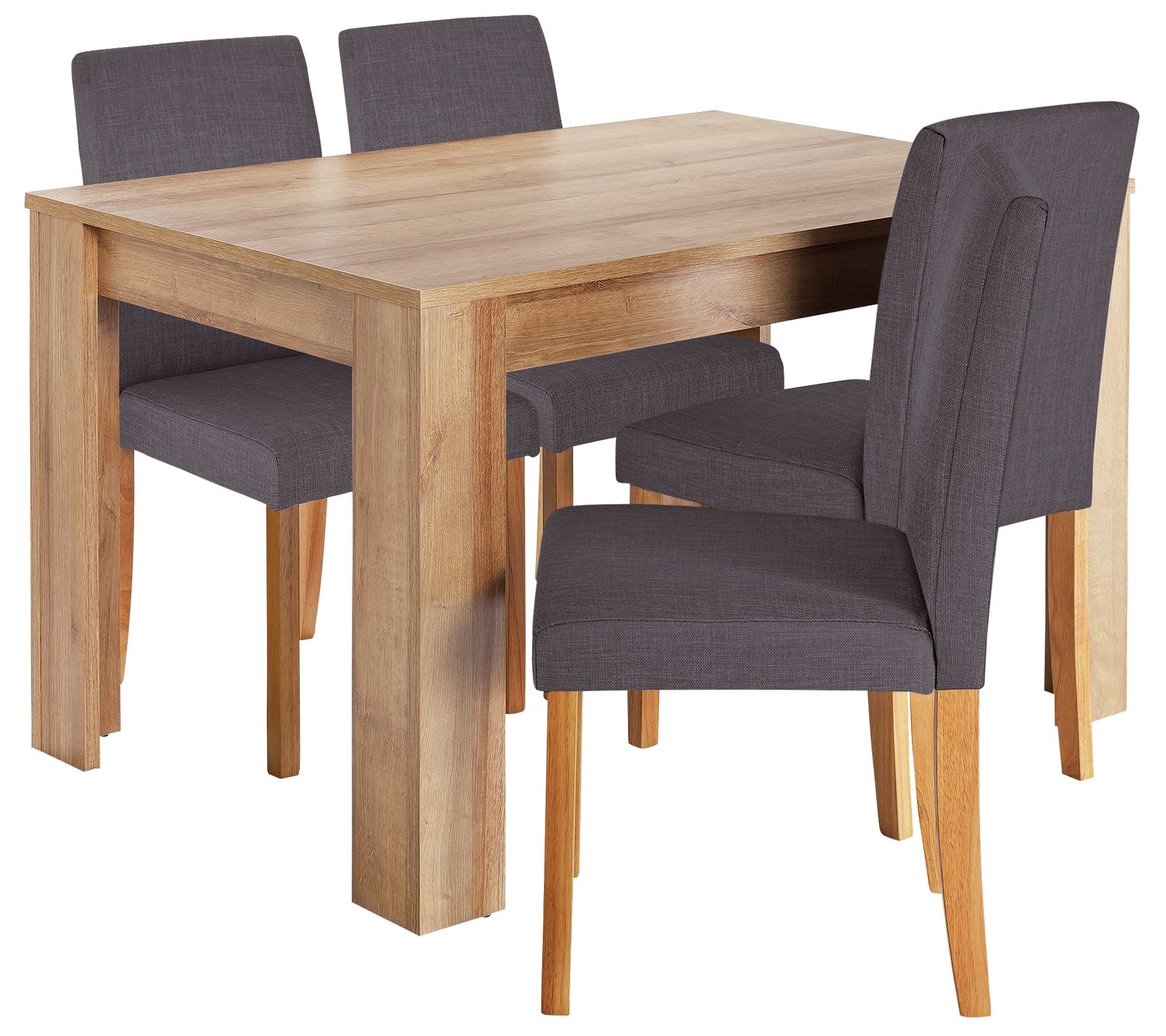 Image of HOME Miami Dining Table & 4 Chairs - Charcoal