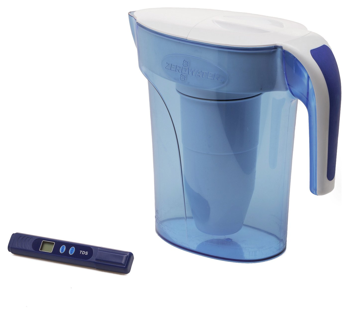 Zerowater 7 Cup Water Filter Jug - Blue