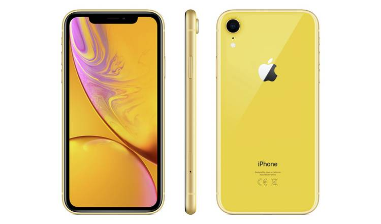 Sim Free iPhone XR 64GB Mobile Phone - Yellow