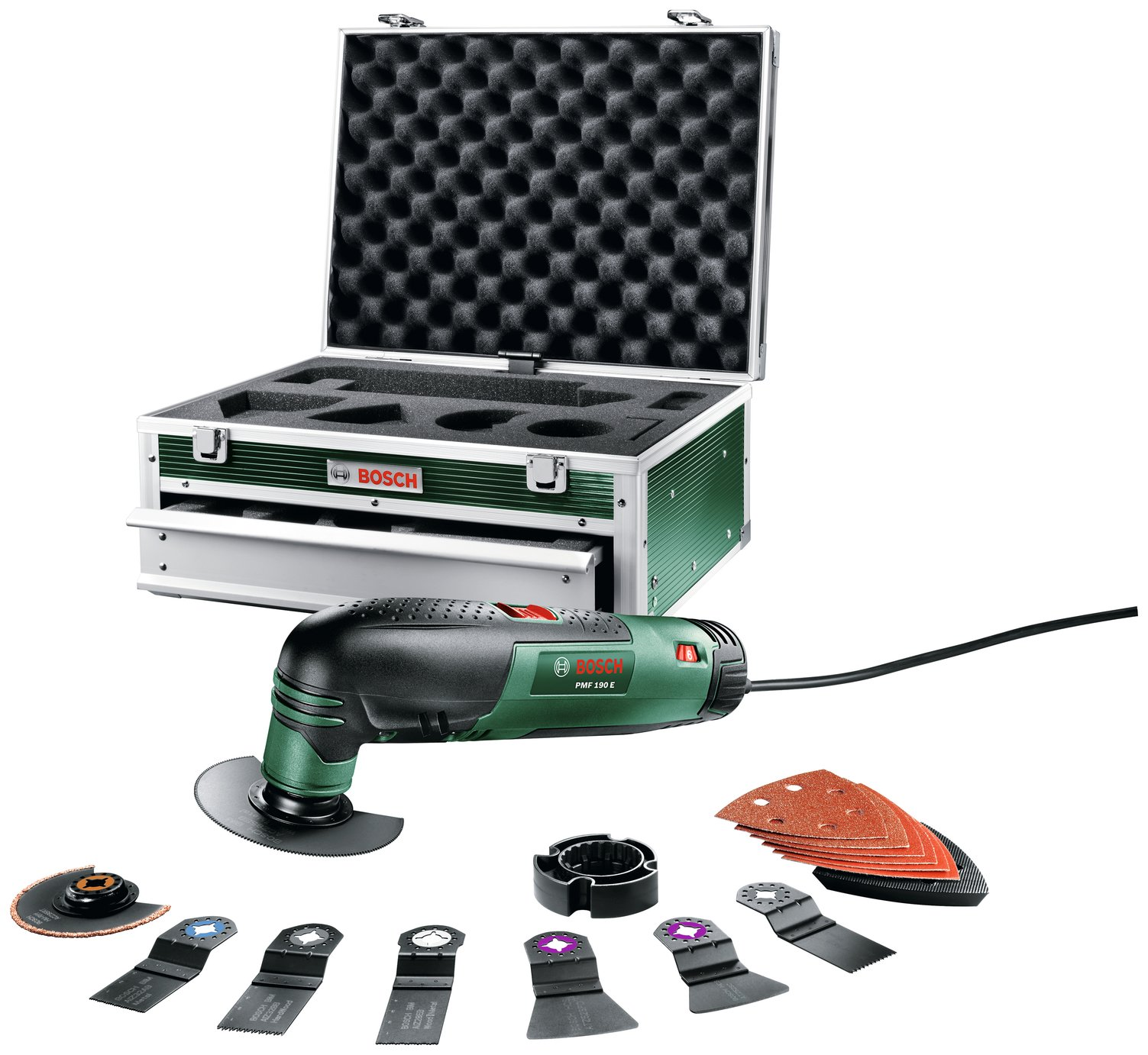 Image of Bosch PMF190 Multi Tool with 15 Accessories and Toolbox