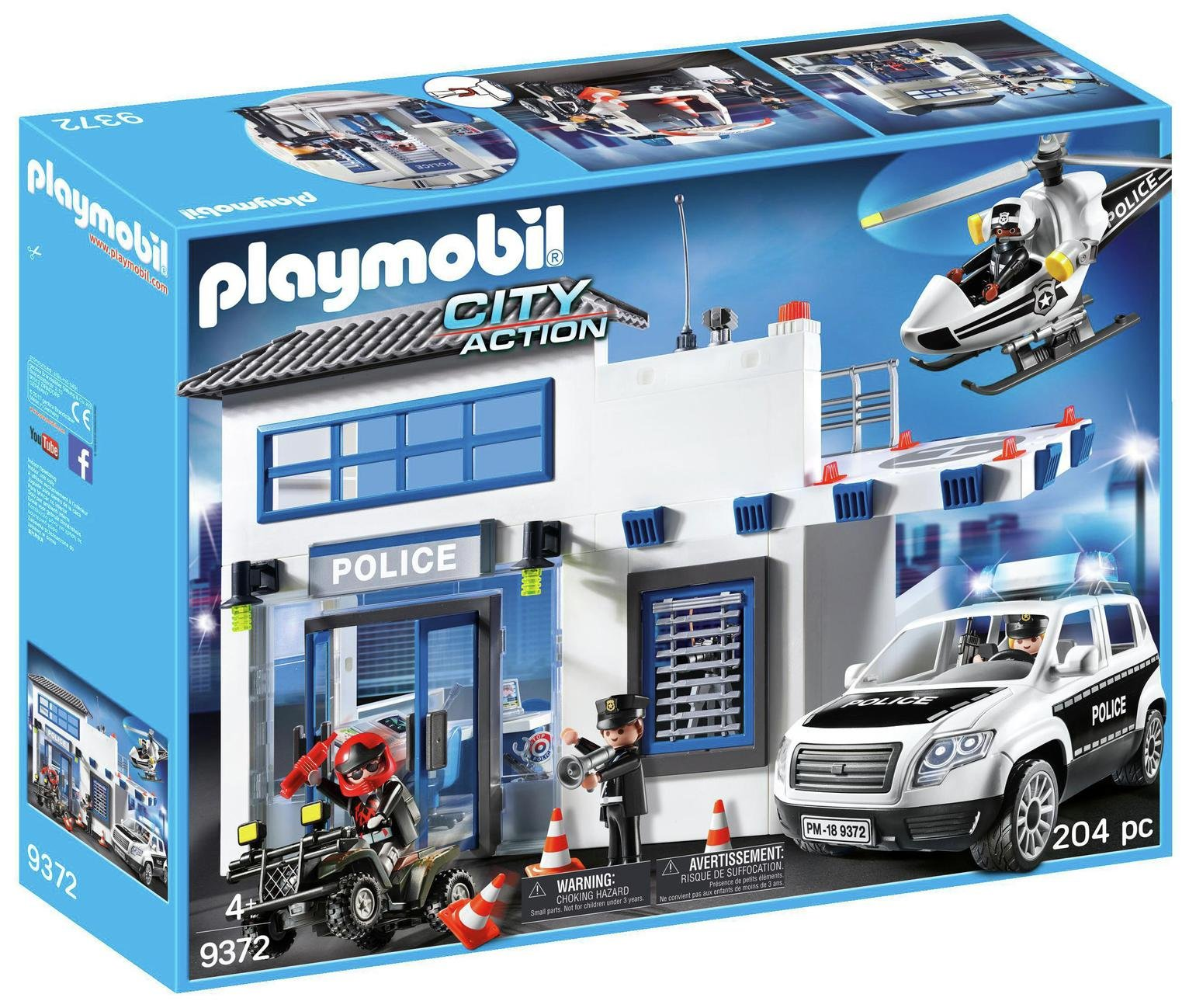 Playmobil 9372 City Action Police Station Bundle