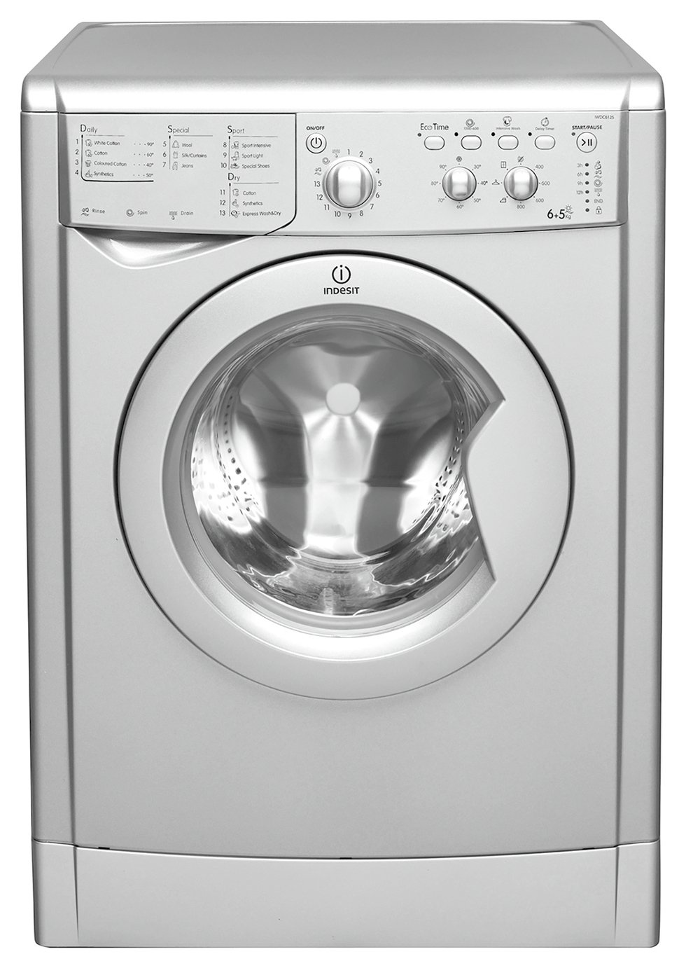 Indesit IWDC 6125 S 6KG/5KG 1200 Spin Washer Dryer - Silver