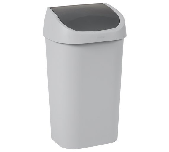 Curver Mistral 50 Litre Swing Top Bin - Grey