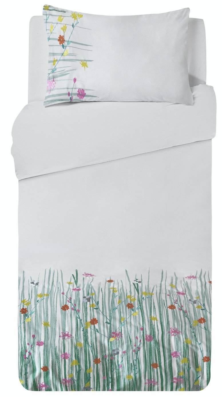 Argos Home Summer Meadow Bedding Set - Single